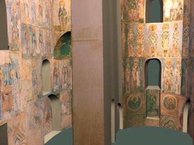 Рис 3. Компьютерная реконструкция фресок Храма Спаса на Нередицы