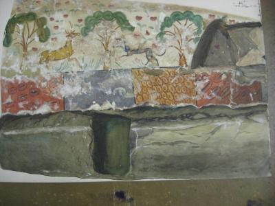 Рис. 5 Акварельная копия стены Склепа 1872 года